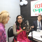 While visiting Radio Padma 99.2FM a warm welcome and a token of love had given to the Honorable U.S. Ambassador to Bangladesh
